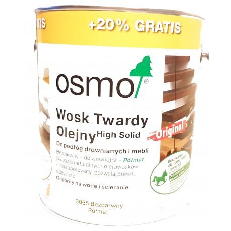 Wosk Twardy Olejny High Solid OSMO 3065 bezbarwny 3L Promocja