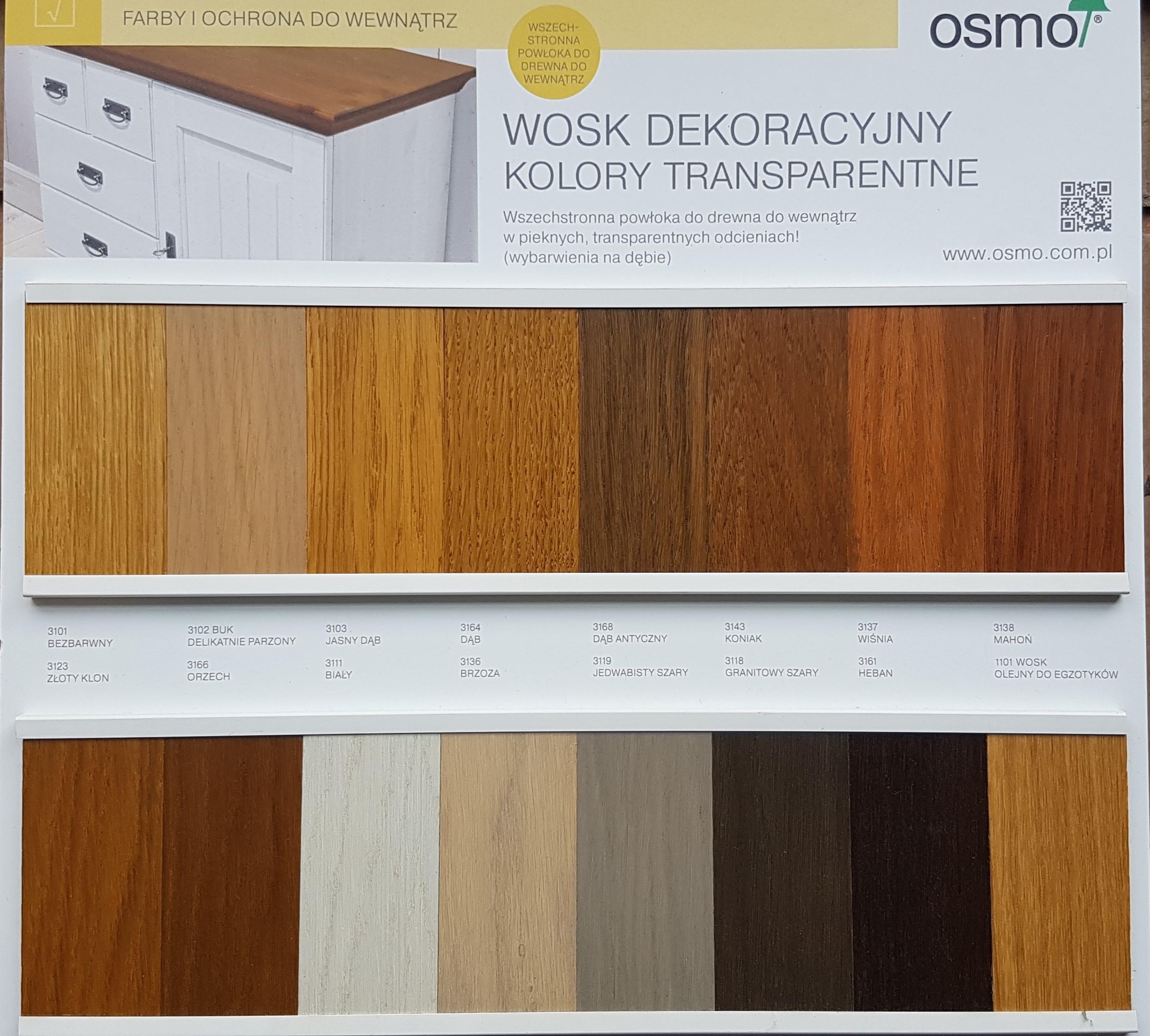 wosk dekoracyjny kolory transparentne paleta